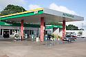 A Petrobras gas station in Cuiaba, Mato Grosso, Brazil.