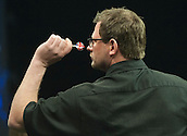 09.04.2015. Sheffield, England. Betway Premier League Darts. Matchday 10. James Wade [ENG] in action during his game with Adrian Lewis [ENG].