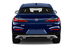 Straight rear view of a 2018 BMW X4 x Line 5 Door SUV stock images