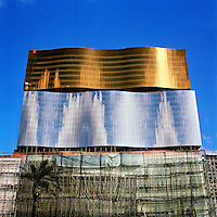 The MGM Grand Macau casino under condstruction in central Macau.