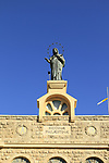 Israel, Shephelah, Statue of Our Lady of Palestine at Deir Rafat Monastery