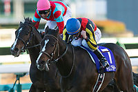 FUNABASHI,JAPAN-DECEMBER 28: Time Flyer #7,ridden by Cristian Demuro,wins the Hopeful Stakes at Nakayama Racecourse on December 28,2017 in Funabashi,Chiba,Japan (Photo by Kaz Ishida/Eclipse Sportswire/Getty Images)