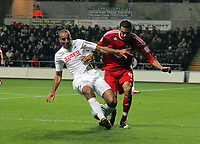 ATTENTION SPORTS PICTURE DESK<br /> Pictured L-R: Darren Pratley of Swansea tackled by Liam Fontaine of Bristol<br /> Re: npower Championship, Swansea City FC v Bristol City Football Club at the Liberty Stadium, south Wales. Wednesday 10 November 2010