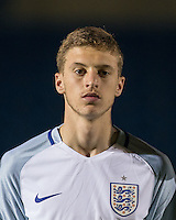 Sam Field (West Bromwich Albion) of England U19 during the International friendly match between England U19 and Bulgaria U19 at Adams Park, High Wycombe, England on 10 October 2016. Photo by Andy Rowland.