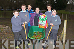 COMMUNITY: Putting the final touches to the Tralee Community garden before opening it on Thursday evening, were, Nathan Mason, Mark Baker, Oleg Nikitin, Gretta O'Rourke, Jurgen Musallar and Mark Lynch.................................. ....