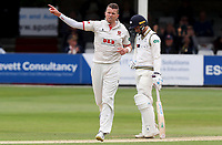 Peter Siddle of Essex celebrates taking the wicket of Keshav Maharaj during Essex CCC vs Yorkshire CCC, Specsavers County Championship Division 1 Cricket at The Cloudfm County Ground on 9th July 2019