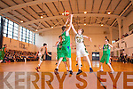 Tommy Sheehy Mounthawk v James Byrne Rathangan, Kildare at Mounthawk on Thursday, in the Schools All Ireland Basketball Semi Finals.
