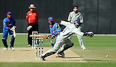 Afghanistan V UAE - World T20 Super Four stage qualifying cricket match in Dubai Sports City Cricket Stadium - UAE keeper Abdul Rehman tries to stem the flow of Afghan runs, to no avail. Afghanistan beat the UAE by 4 wickets, thereby qualifying for the World T20 in the West Indies in April and May - Picture by Donald MacLeod 13.02.10