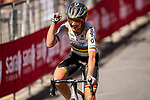 World Champion Annemiek van Vleuten (NED) Mitchelton-Scott wins the 2020 Strade Bianche Elite Women running 136km from Fortezza Medicea Siena to Piazza del Campo Siena, Italy. 1st August 2020.<br /> Picture: LaPresse/Marco Alpozzi   Cyclefile<br /> <br /> All photos usage must carry mandatory copyright credit (© Cyclefile   LaPresse/Marco Alpozzi)