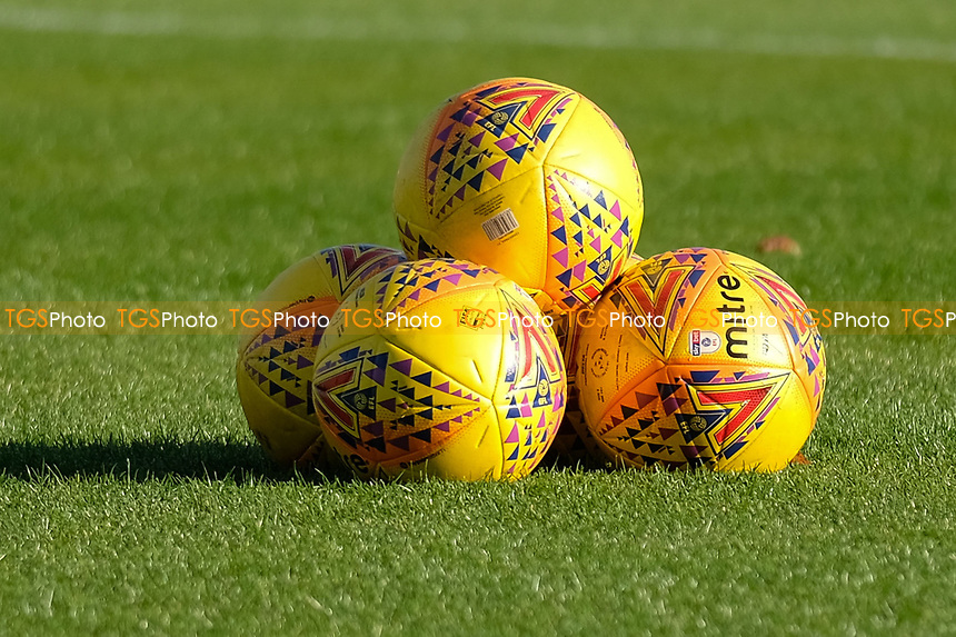 Match balls ahead of Crawley Town vs MK Dons, Sky Bet EFL League 2 Football at Broadfield Stadium on 3rd November 2018