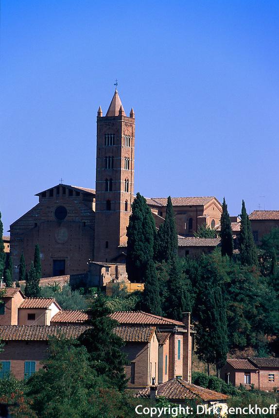Santa Maria dei Servi, Siena, Toskana, Italien, Unesco-Weltkulturerbe