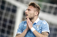 Calcio, Serie A: Lazio, Stadio Olimpico, 13 febbraio 2017.<br /> Lazio's Ciro Immobile reacts during the Italian Serie A football match between Lazio and Milan at Roma's Olympic Stadium, on February 13, 2017.<br /> UPDATE IMAGES PRESS/Isabella Bonotto