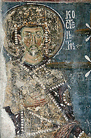 king Constance,fresco,old narthex,Milesheva  Monastery of Ascension of the Lord , 1234-1235