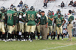 Harbor City, CA 09/24/10 - The Narbonne team in the huddle before the game.