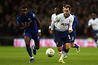 Antonio Rudiger of Chelsea and Christian Eriksen of Tottenham Hotspur during Tottenham Hotspur vs Chelsea, Caraboa Cup Football at Wembley Stadium on 8th January 2019