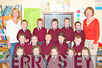 GIGGLE: The Junior infants class of Coolard NS, Listowel having a giggle with teachers Ann Boland and Norma Leahy as they settle into their first week of school. Front l-r: Orlaith Mahony, Aisling Scully, Ellie Cunnane, Orla Horgan and Sinead Relihan. Middle l-r: Liam Bambury, Louise Leahy, Oliver Kelly, Cliona Fitzgerald and Adam Hayes. Back l-r: Evan Curtin, Paddy Foley, Jack O'Sullivan, Shane Madden and Vincent Doherty. Copyright Kerry's Eye 2008