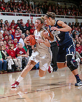 STANFORD, CA - December 29, 2012:  Toni Kokenis during Stanford's game against Connecticut at Maples Pavilion in Stanford, California.  UConn defeated the Cardinal 61-35.