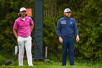 Tommy Fleetwood (ENG) and Tyrrell Hatton (ENG) looks over their tee shots on 12 during round 3 of the 2019 US Open, Pebble Beach Golf Links, Monterrey, California, USA. 6/15/2019.<br /> Picture: Golffile | Ken Murray<br /> <br /> All photo usage must carry mandatory copyright credit (© Golffile | Ken Murray)