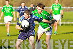 Carrying: Padraig O'Sullivan of  IT Tralee tries to outpace Limerick's Seanie Buckley in their McGrath Cup match in Moyvane.   Copyright Kerry's Eye 2008