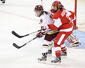 Emily Field (BC - 15), Kasey Boucher (BU - 3) - The visiting Boston University Terriers defeated the Boston College Eagles 4-1 on Wednesday, November 2, 2011, at Kelley Rink in Conte Forum in Chestnut Hill, Massachusetts.
