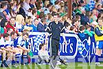 Derek Burke Castleisland Desmonds Celebrity Bainisteoir walks the line during the game on Saturday