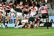 4th November 2017, Sydney Football Stadium, Sydney, Australia; Rugby League World Cup, England versus Lebanon; Nick Kassis of Lebanon scores a try