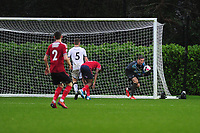 Josh Gould of Swansea City u23s' in action during the Premier League 2 Division Two match between Swansea City u23s and Middlesbrough u23s at Swansea City AFC Training Academy  in Swansea, Wales, UK. Monday 13 January 2020.
