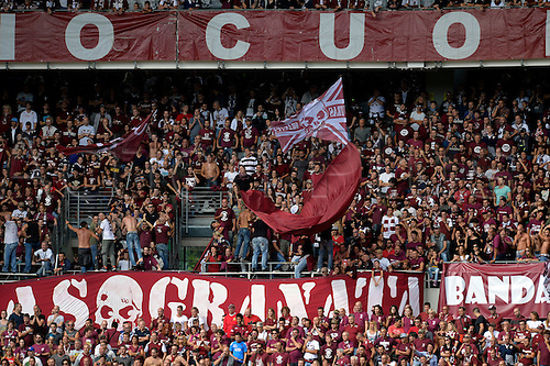 19.09.2016. Stadio Olimpico, Torino, Italy. Serie A Football. Torino versus Empoli. Torno fans watching the match, and show a new Union Jack for their on loan keeper Joe Hart