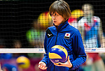 Head coach Kumi Nakada of Japan reacts during warm up section prior the FIVB Volleyball World Grand Prix - Hong Kong 2017 match between Japan and Serbia on 22 July 2017, in Hong Kong, China. Photo by Yu Chun Christopher Wong / Power Sport Images