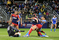 Boyds, MD - Friday Sept. 30, 2016: Kelsey Wys, Ali Krieger, Cara Walls during a National Women's Soccer League (NWSL) semi-finals match between the Washington Spirit and the Chicago Red Stars at Maureen Hendricks Field, Maryland SoccerPlex. The Washington Spirit won 2-1 in overtime.