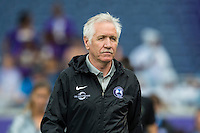 Orlando, FL - Sunday June 26, 2016: Tom Sermanni  prior to a regular season National Women's Soccer League (NWSL) match between the Orlando Pride and the Portland Thorns FC at Camping World Stadium.