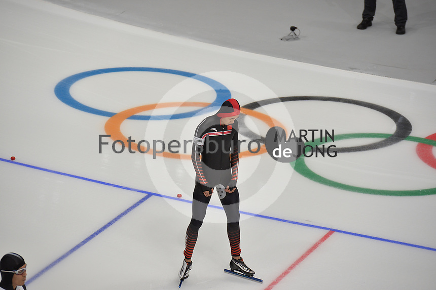 OLYMPIC GAMES: PYEONGCHANG: 19-02-2018, Gangneung Oval, Long Track, 500m Men, Tingyu Gao (CHN), ©photo Martin de Jong