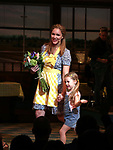 Katie Grober with Katharine McPhee during her Broadway Debut Curtain Call in 'Waitress' at the Brooke Atkinson Theatre on April 10, 2018 in New York City.
