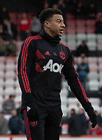 Manchester United's Jesse Lingard during pre-match warm up<br /> <br /> <br /> Photographer David Horton/CameraSport<br /> <br /> The Premier League - Bournemouth v Manchester United - Saturday 3rd November 2018 - Vitality Stadium - Bournemouth<br /> <br /> World Copyright &copy; 2018 CameraSport. All rights reserved. 43 Linden Ave. Countesthorpe. Leicester. England. LE8 5PG - Tel: +44 (0) 116 277 4147 - admin@camerasport.com - www.camerasport.com