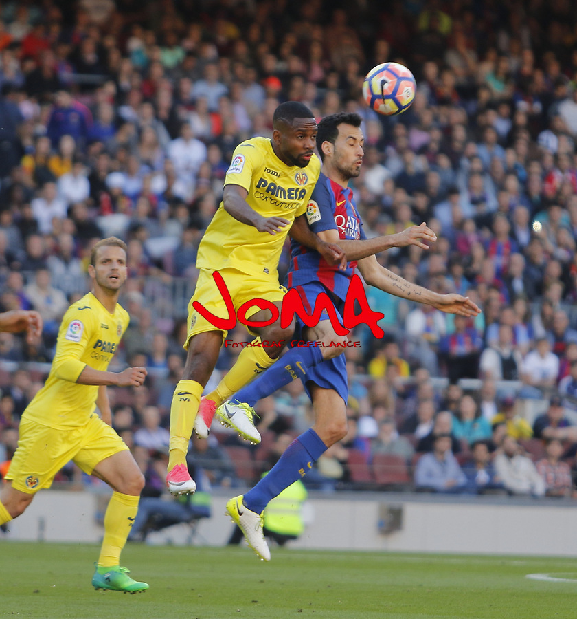 06.05.2017 Barcelona. La Liga game 31. picture show Sergio Busquets in action during game between FC Barcelona against Villarreal at Camp Nou
