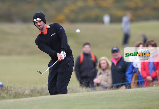 /jp/ chips onto the 17th during Round Three of the 2015 Dubai Duty Free Irish Open Hosted by The Rory Foundation at Royal County Down Golf Club, Newcastle County Down, Northern Ireland. 30/05/2015. Picture David Lloyd | www.golffile.ie
