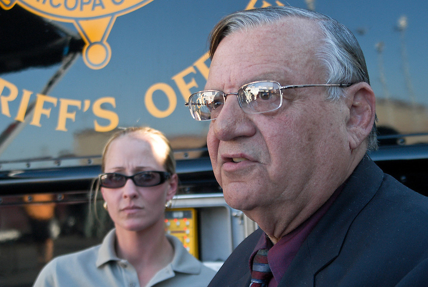 AJ Alexander/AAP - Sheriff Joe Arpaio conducting another Crime Supretion Sweep Phoenix, Arizona..Photo by AJ Alexander (C)