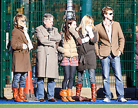 Hampstead spectators look on during the EHL Mens Cup Quarter-Final game between Hampstead and Westminster and Old Loughtonians at the Paddington Recreation Ground, Maida Vale on Sun Mar 7, 2010