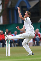 Jamie Porter in bowling action for Essex during Surrey CCC vs Essex CCC, Specsavers County Championship Division 1 Cricket at Guildford CC, The Sports Ground on 9th June 2017