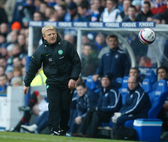 Celtic manager Gordon Strachan in the technical area