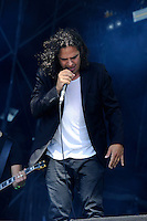 DERBYSHIRE, ENGLAND - AUGUST 12:  Patrik Wiren of 'Misery Loves Co' performing at Bloodstock Open Air Festival, Catton Park on August 12, 2016 in Derbyshire, England.<br /> CAP/MAR<br /> &copy;MAR/Capital Pictures /MediaPunch ***NORTH AND SOUTH AMERICAS ONLY***