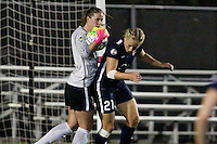 Piscataway, NJ - Saturday Aug. 27, 2016: Alyssa Naeher, Leah Galton during a regular season National Women's Soccer League (NWSL) match between Sky Blue FC and the Chicago Red Stars at Yurcak Field.