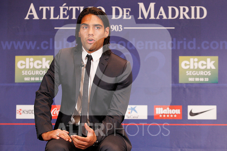 Atletico de Madrid's new player Rdamel Falcao during his official presentation. August 22, 2011. (ALTERPHOTOS/Acero)