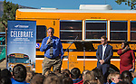 Washoe County Transportation Director Rick Martin speaks at the Propane Education and Research Council Adopt a Classroom event at Lemmon Valley Elementary School on Tuesday, September 27, 2016.