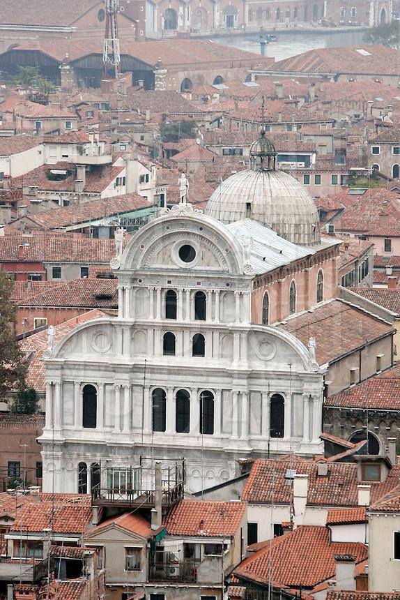Veduta dall'alto della Chiesa di San Zaccaria a Venezia.<br /> Aerial view of the Church of San Zaccaria (St. Zacharias) in Venice.<br /> UPDATE IMAGES PRESS/Riccardo De Luca