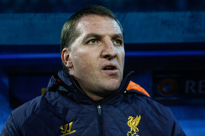 Liverpool manager Brendan Rodgers ..Football - UEFA Europa League Round of 32 - Zenit St. Petersburg v Liverpool - Thursday 14th February 2013 - Petrovskiy - St Petersburg - Russia..