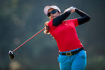 Ajira Nualraksa of Thailand plays a shot during the Hyundai China Ladies Open 2014 on December 09 2014 at Mission Hills Shenzhen, in Shenzhen, China. Photo by Aitor Alcalde / Power Sport Images