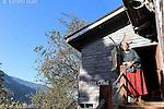 The lady of the house, Khonoma village, Nagaland
