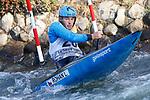 28th September 2019; Canal Olimpic del Segre, La Seu d'Urgell, Catalonia, Spain; ICF Canoe Slalom, World Championships, MC1 Men's Canoe canoe. Picture show Lucas Rohan (CZE) in action