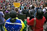 Manifestaçao Fora Temer na Praça da Se, dia 7 de setembro. 2016. Foto de Marcia Minillo.